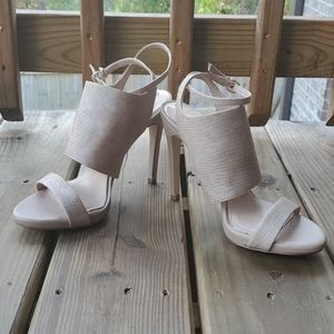 Gianni Bini snake leather strappy heel